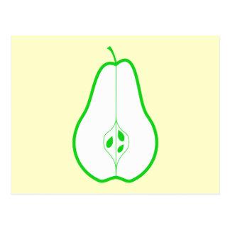 Green Pear Half. Postcard