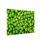 Green Peas Background Gallery Wrap Canvas
