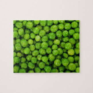Green Peas Background Jigsaw Puzzle