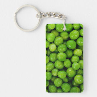 Green Peas Background Single-Sided Rectangular Acrylic Key Ring