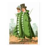 Green Peas Vintage Food Ad Art Post Card