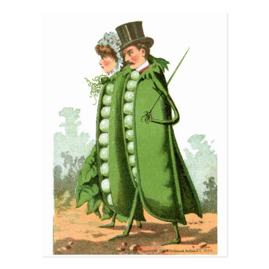 Green Peas Vintage Food Ad Art Postcard