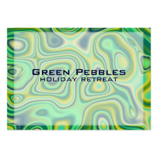 green pebbles business card templates