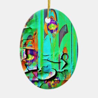 Green Peeling Wall Paper by Sharles Christmas Ornament