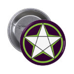 Green Pentacle Buttons