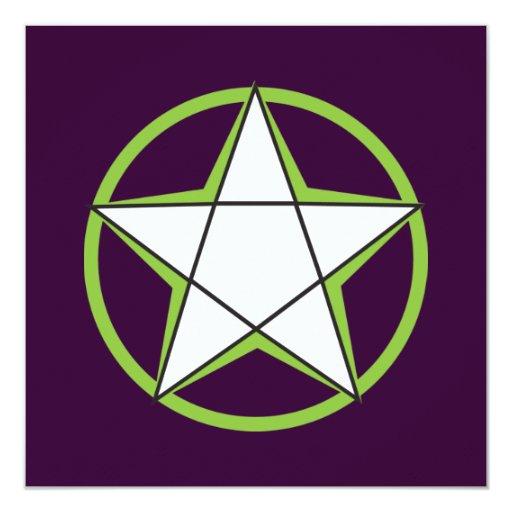 Green Pentacle Invitations