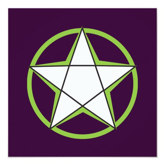 Green Pentacle Invitations