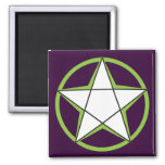 Green Pentacle Magnets