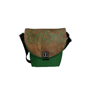 Green pentacle messenger bag