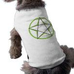 Green Pentacle Pet Apparel Doggie T-shirt
