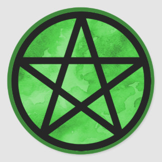 Green Pentacle Sticker