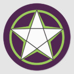 Green Pentacle Stickers