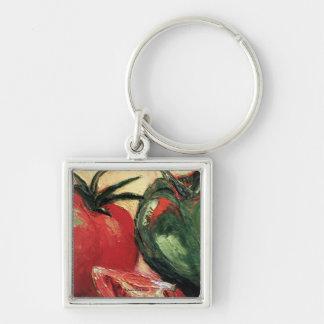 Green Pepper & Tomato Key Chain
