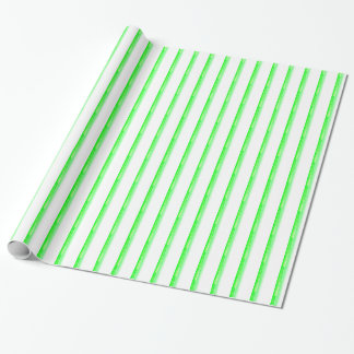 Green Peppermint Striped Wrapping Paper