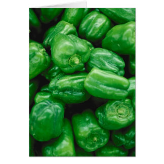 Green Peppers Card