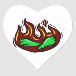 green peppers in flame graphic stickers