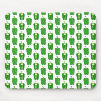 Green Peppers Pattern. Mouse Pad