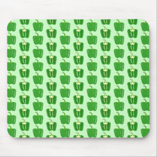 Green Peppers. Pattern. Mouse Pad