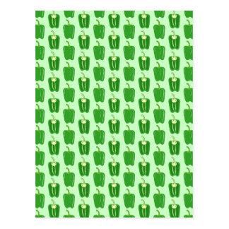 Green Peppers. Pattern. Postcard
