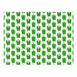 Green Peppers Pattern. Postcard