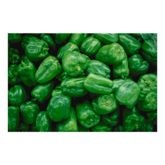 Green Peppers Poster