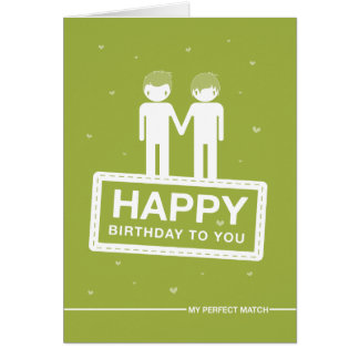 Green | Perfect Match | Happy Birthday Card