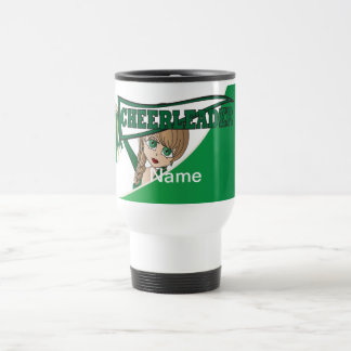 Green Personalize Cheerleader Mugs