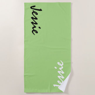 Green Personalized Beach Towel