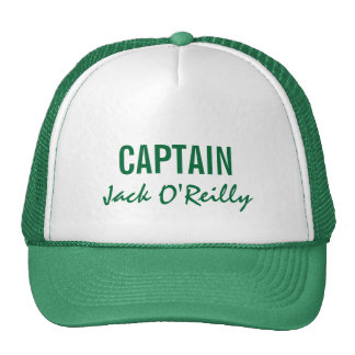 Green Personalized Captain Hat