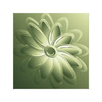 green petals canvas print