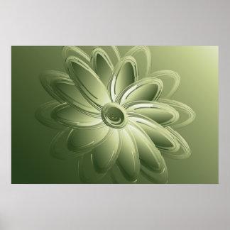 green petals poster