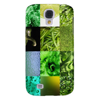 Green Photo Collage Samsung Galaxy S4 Covers