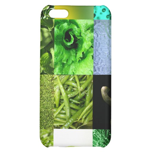 Green Photo Collage iPhone 5C Covers