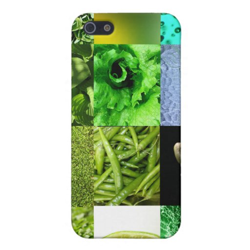Green Photo Collage iPhone 5 Covers
