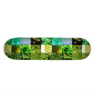 Green Photography Collage Skateboard