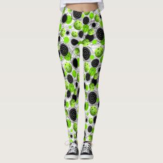Green Pickleballs - Leggings