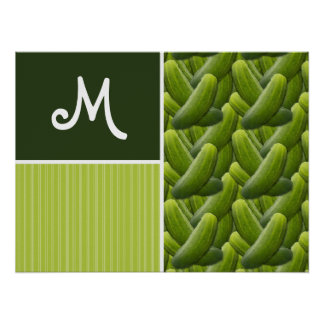 Green Pickles; Pickle Pattern Poster