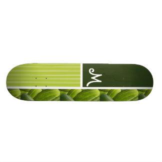 Green Pickles; Pickle Pattern Skateboard Deck