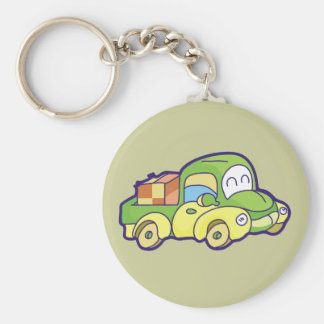 Green Pickup Truck Tshirts and Gifts Basic Round Button Key Ring