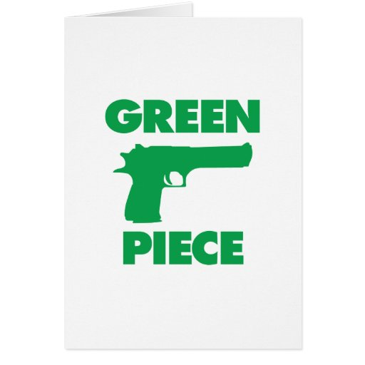 Green Piece Greeting Card