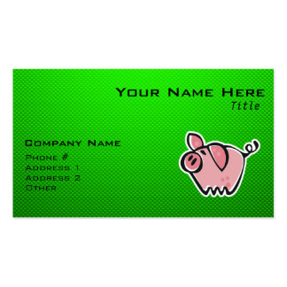 Green Pig Pack Of Standard Business Cards