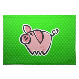 Green Pig Place Mat
