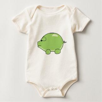 Green Pig Bodysuit