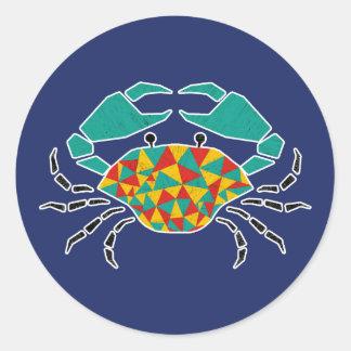Green Pinching Crab Sticker