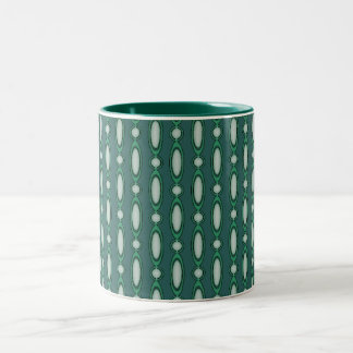 Green & Pine Beaded Curtains Two-Tone Mug