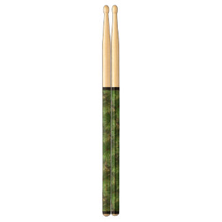 Green Pine Needles Pattern Drum Sticks
