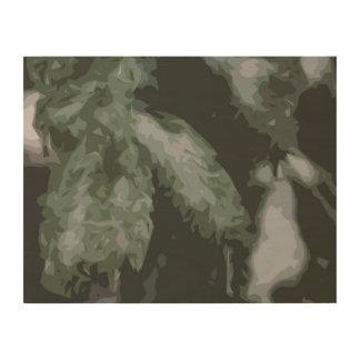 Green Pines Abstract Wood Wall Art