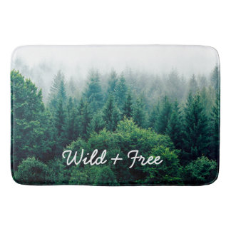 Green Pines Forest Wild and Free Bath Mat