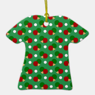 Green ping pong pattern christmas tree ornament