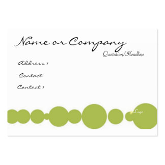 Green / Pink Pack Of Chubby Business Cards